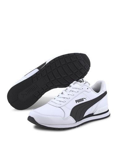 Puma Puma 36695908 ST Runner v2 Beyaz - Siyah Erkek Çocuk Yürüyüş Ayakkabısı Beyaz